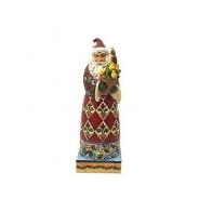 Figurka Mikołaj z dekoracją świąteczną 19cm Jim Shore