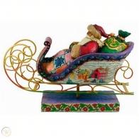 Figurka Mikołaj na saniach 28x35cm Jim Shore