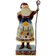 Figurka Mikołaj z kolędnikami 30cm Jim Shore