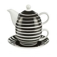 Zestaw Tea For One 15 cm / 0,35 l Paski - Chateau - Princess Maja von Hohenzollern Goebel 27050651