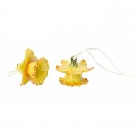 Porcelanowy dzwoneczek Żonkil 2 szt - Mini Flower Bells