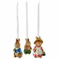 Ozdoby wiszące 3 zające - Bunny Tales