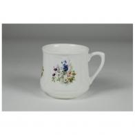 Kubek śląski 0,25L - dekoracja Kwiaty Polne (mały) ASĆmielów porcelana sklep