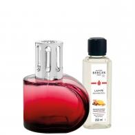 Zestaw Alliance czerwony, lampa + zapach - Maison Berger