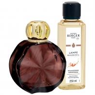 Zestaw Cercle Prune, lampa + zapach - Maison Berger