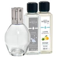 Zestaw Essentielle owalny, lampa + 2 zapchy - Maison Berger