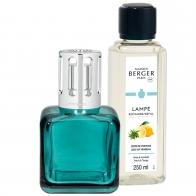 Zestaw Kostka zielona, lampa + zapach - Maison Berger