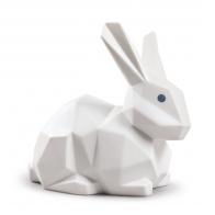 Figurka Królik Origami 12 cm biały matowy