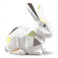 Figurka Królik Origami 12 cm kolorowy matowy