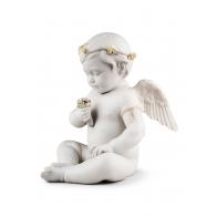 Figurka Anioł z bukietem kwiatów 32 cm