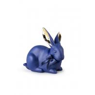 Figurka niebiesko-złoty królik 11 cm - Lladro