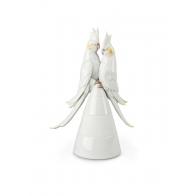 Figurka papugi Nimfy w miłosnej pozie 27 cm - Lladro