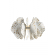 Kinkiet ścienny Nightbloom 47 cm biało - złoty - Lladro