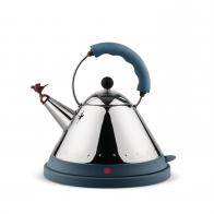Czajnik 1,5 l elektryczny niebieski z gwizdkiem ptaka - Alessi Officina