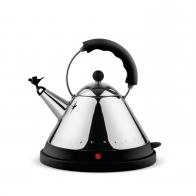 Czajnik 1,5 l elektryczny czarny z ptaszkiem - Alessi Officina