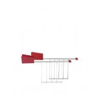 Zestaw ramek do tostera Plissé 2 szt. czerwone - Michele De Lucchi