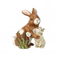 Figurka na rok 2021 Para królików z przebiśniegami13 cm
