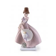 Figurka Dziewczynka ze słomkowym kapeluszem 24 cm - Lladro
