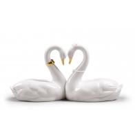 Figurka Niekończąca się miłość Łabędzie 27 cm - Lladro