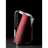 Czajnik elektryczny 1,7 l pokryty skórą czerwony - VERA
