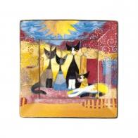 Talerz kwadratowy Macchia e amici 12 cm - Rosina Wachtmeister Goebel 66860991