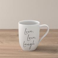 "Kubek ""Live Love Laugh"" 340 ml - Statement"