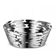 Kosz na owoce Barket srebrny 18 cm - Michel Boucquillon & Donia Maaoui - Alessi