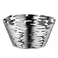 Kosz na owoce Barket srebrny 21 cm - Michel Boucquillon & Donia Maaoui - Alessi