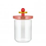 Szklany słoik różowy 1 l - Alessi
