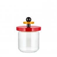 Szklany słoik czerwony 0,75 l - Alessi