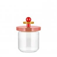 Szklany słoik różowy 0,75 l - Alessi