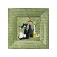 Talerz kwadratowy La Storia di Serafino 16 cm - Rosina Wachtmeister