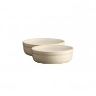 Zestaw dwóch miseczek creme brulee 12 cm kremowy - Emile Henry