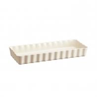 Prostokątne naczynie do tarty 36 × 15 × 5 cm kremowe - Emile Henry