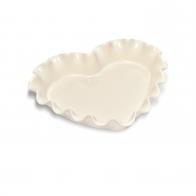 Naczynie do zapiekania w kształcie serca - 33 × 29 cm kremowe - Emile Henry