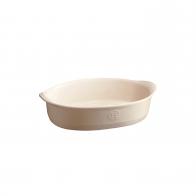 Małe owalne naczynie do zapiekania 24 × 17,5 cm kremowe - Emile Henry