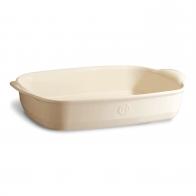 Prostokątne naczynie do zapiekania 36,5 × 23,5 cm kremowe - Emile Henry