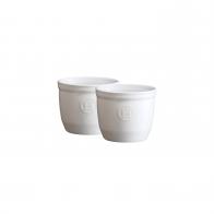 Zestaw dwóch miseczek do zapiekania typu ramekin - N°8 7 cm białe - Emile Henry