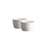 Zestaw dwóch miseczek do zapiekania typu ramekin - N°9 białe - Emile Henry