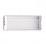 Prostokątne naczynie do tarty 36 × 15 × 5 cm białe - Emile Henry