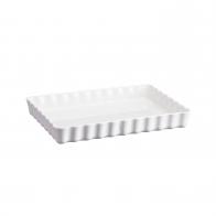 Prostokątne naczynie do tarty 34 x 24 cm białe - Emile Henry