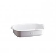 Prostokątne naczynie do zapiekania 30 × 19 cm białe - Emile Henry