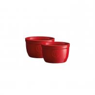 Zestaw dwóch miseczek do zapiekania typu ramekin - N°9 czerwone - Emile Henry