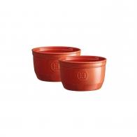 Zestaw dwóch miseczek do zapiekania typu ramekin - N°10 czerwone - Emile Henry