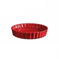Naczynie do tarty 24 cm czerwone - Emile Henry