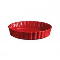 Naczynie do tarty 28 cm czerwone - Emile Henry