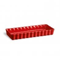 Prostokątne naczynie do tarty 36 × 15 × 5 cm czerwone - Emile Henry