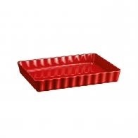 Prostokątne naczynie do tarty 34 x 24 cm czerwone - Emile Henry