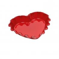 Naczynie do zapiekania w kształcie serca 33 × 29 cm czerwone - Emile Henry