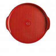 Kamień do pizzy 37 cm czerwony - Emile Henry